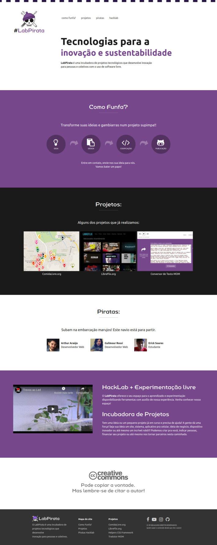 Site do projeto LabPirata