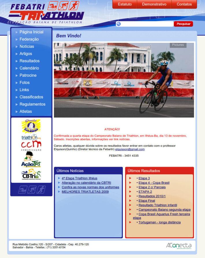 Site em WordPress da Febatri