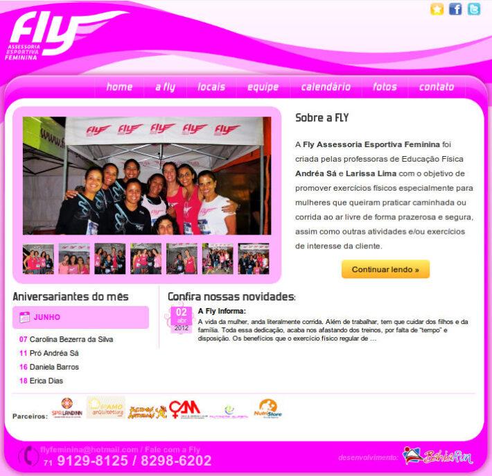 Site em WordPress da Fly Feminina