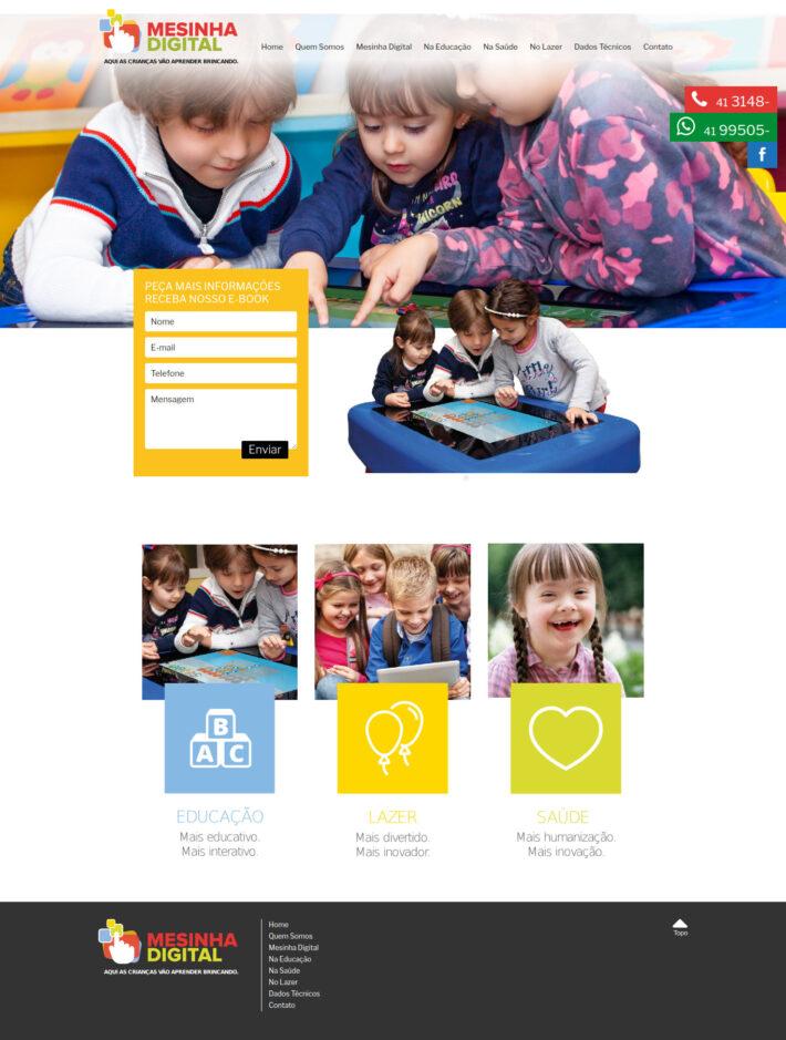 Site em WordPress da Mesinha Digital