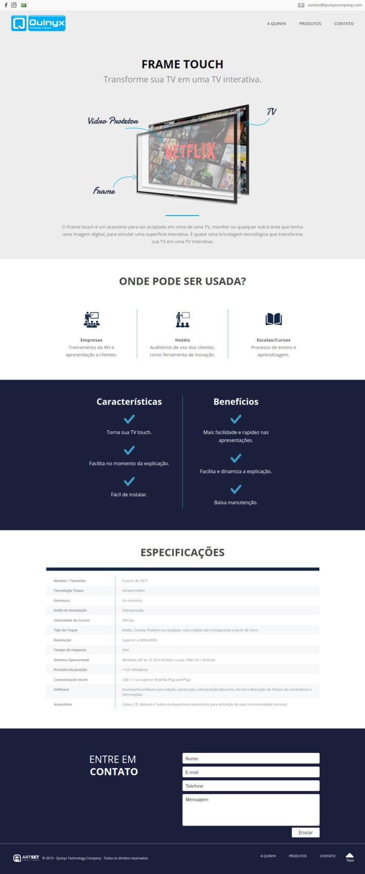 Site em WordPress da Quinyx Company