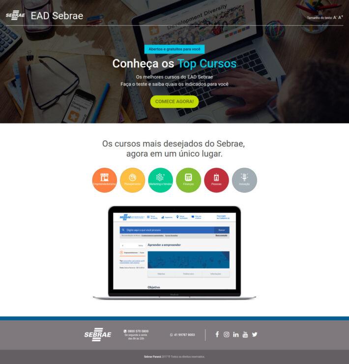 Site em HTML do Sebrae EAD