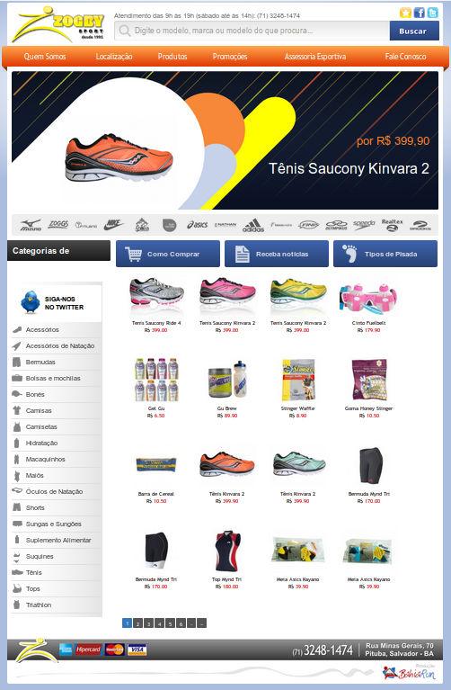 Site em WordPress da Zogby Sport
